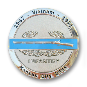 Shiny Silver Challenge Coin with Sandblasting