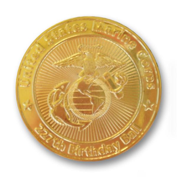 24 karat gold plated challenge coin