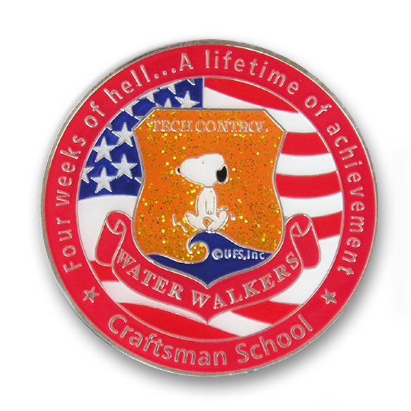 challenge coin with glitter paint