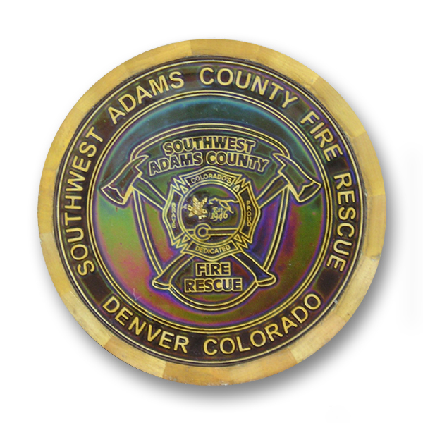 challenge coin with heating changing paint