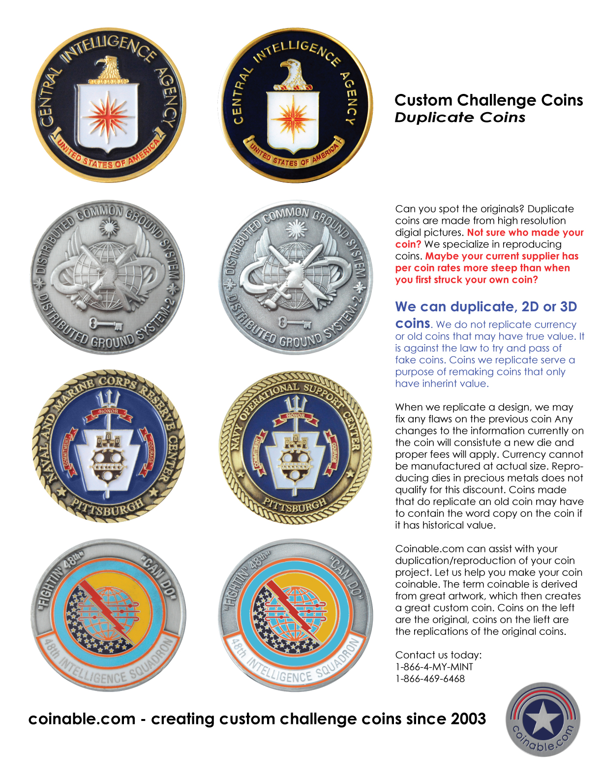 Custom Challenge Coins | Air Force Challenge Coins