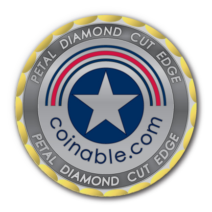 Petal Diamond Cut Edge - Challenge Coin - After Plating