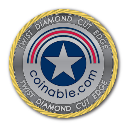 Twist Diamond Cut Edge - Challenge Coin - After Plating