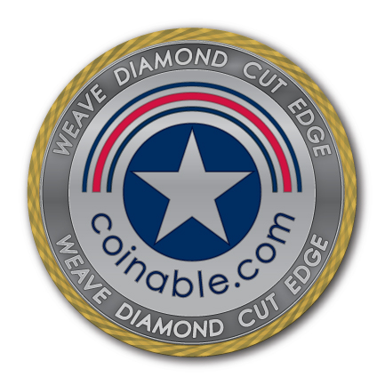 Weave Diamond Cut Edge - Challenge Coin - After Plating