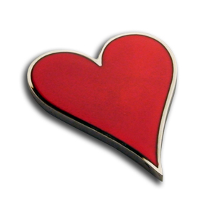 2 inch, Nickel, Heart Shaped Card Guard